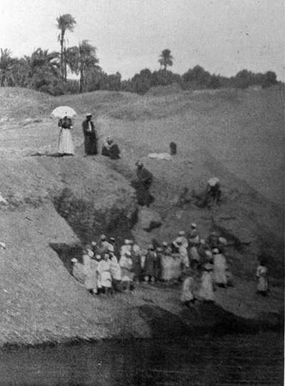 view of the excavation